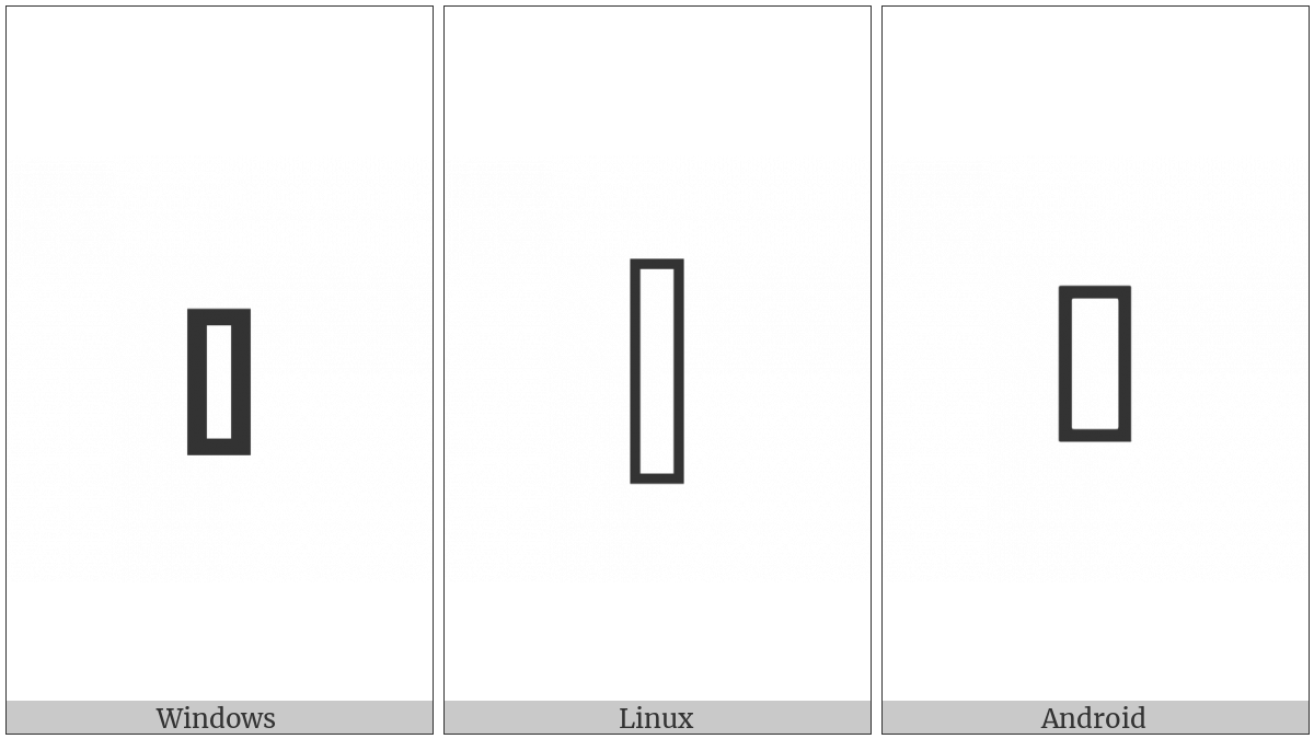 White Vertical Bar on various operating systems