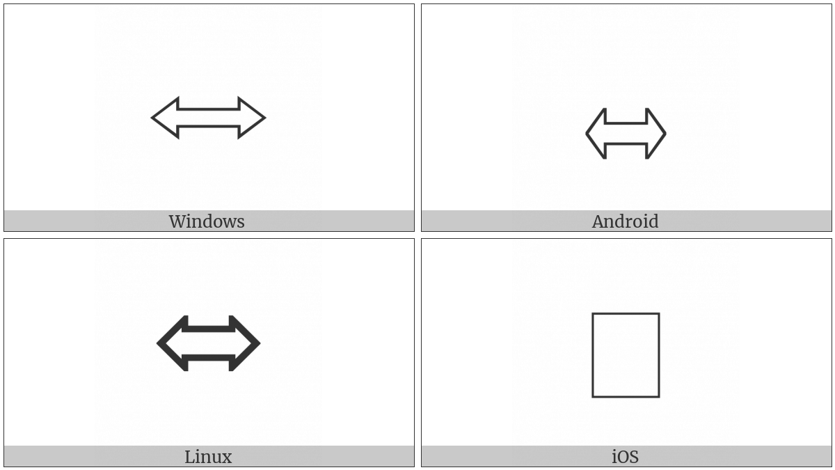 Left Right White Arrow on various operating systems