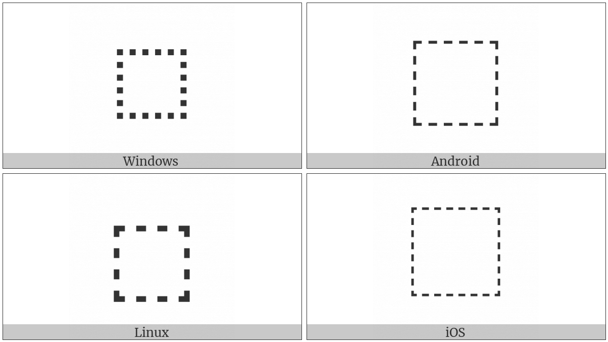 Dotted Square on various operating systems