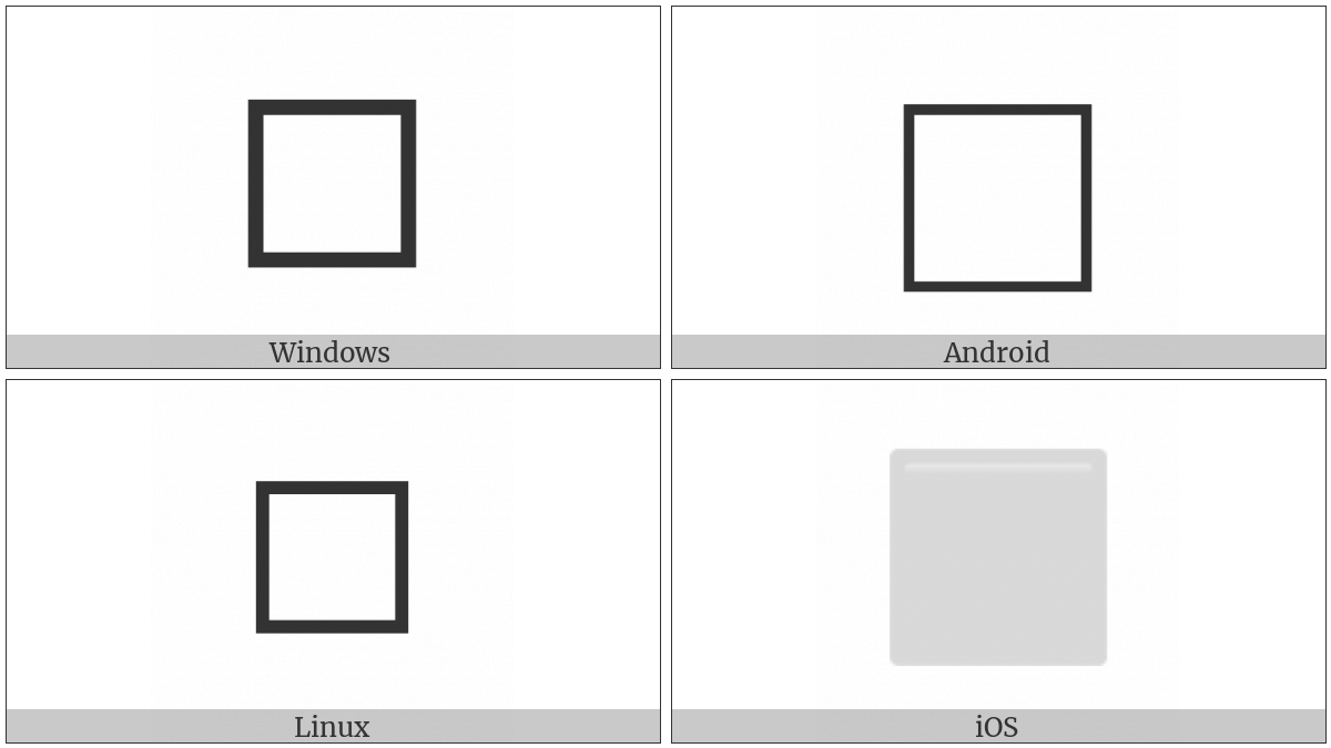 White Large Square on various operating systems