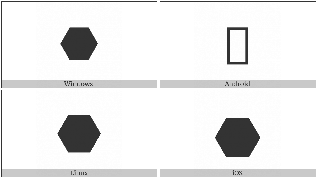 Horizontal Black Hexagon on various operating systems