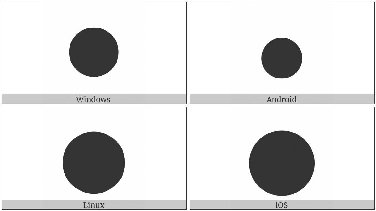 Black Large Circle on various operating systems