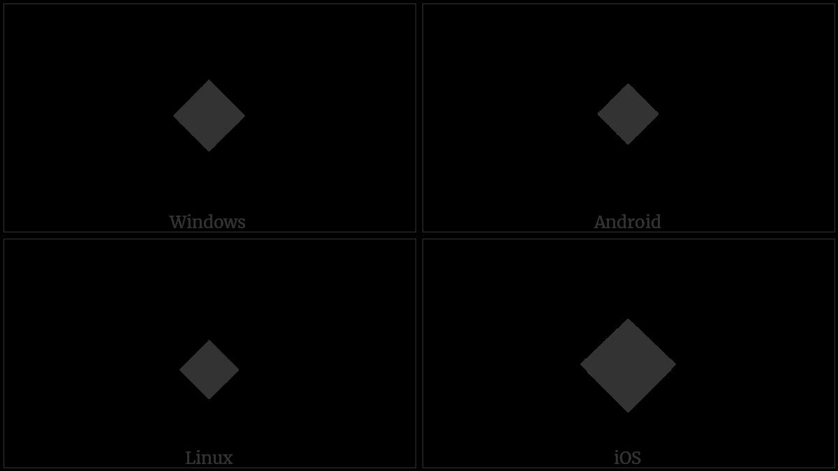 Black Medium Diamond on various operating systems