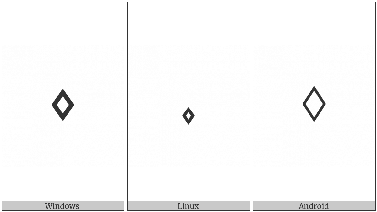 White Small Lozenge on various operating systems