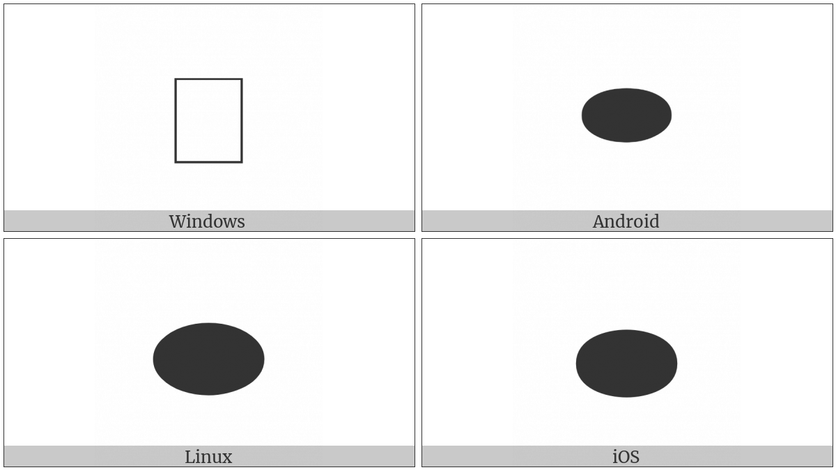Black Horizontal Ellipse on various operating systems