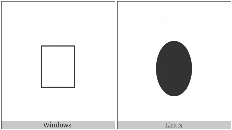 Black Vertical Ellipse on various operating systems
