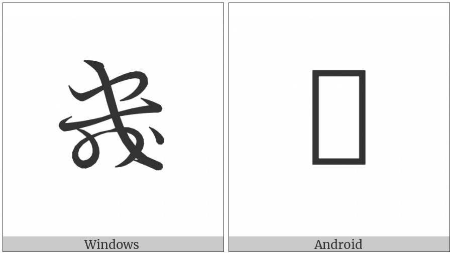 Hentaigana Letter Ki-3 on various operating systems