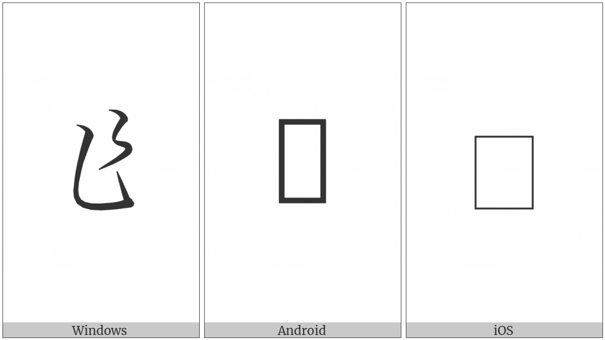 Hentaigana Letter Sa-1 on various operating systems