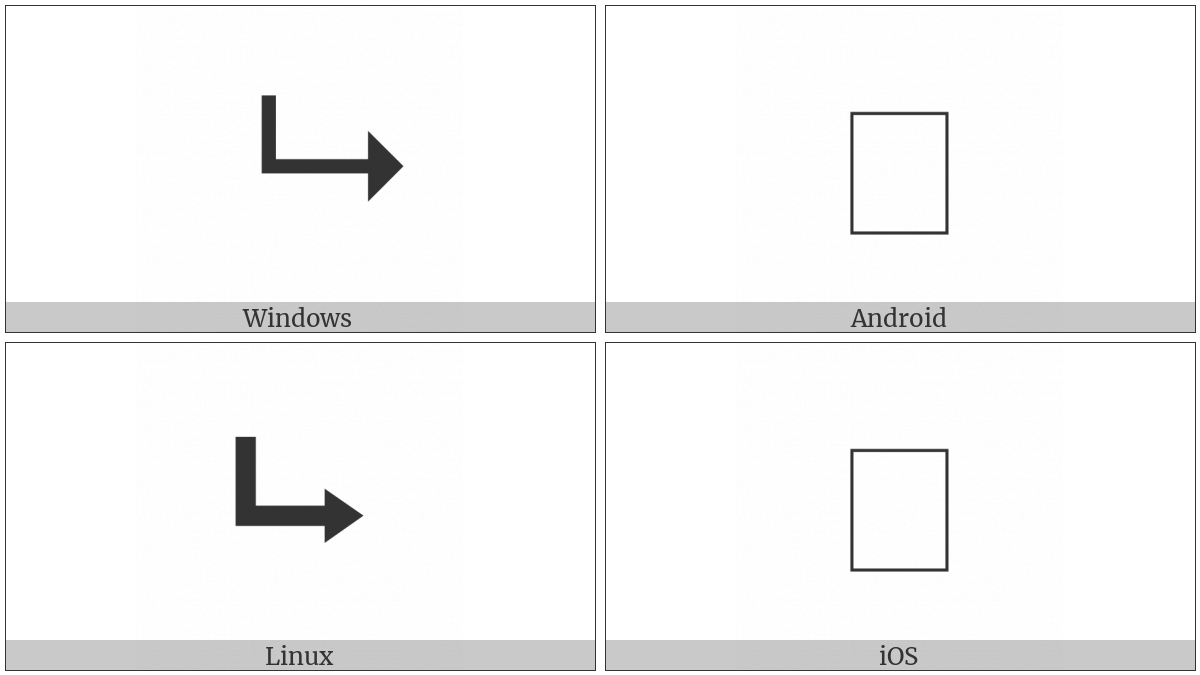 Downwards Triangle Headed Arrow With Long Tip Rightwards Utf 8 Icons