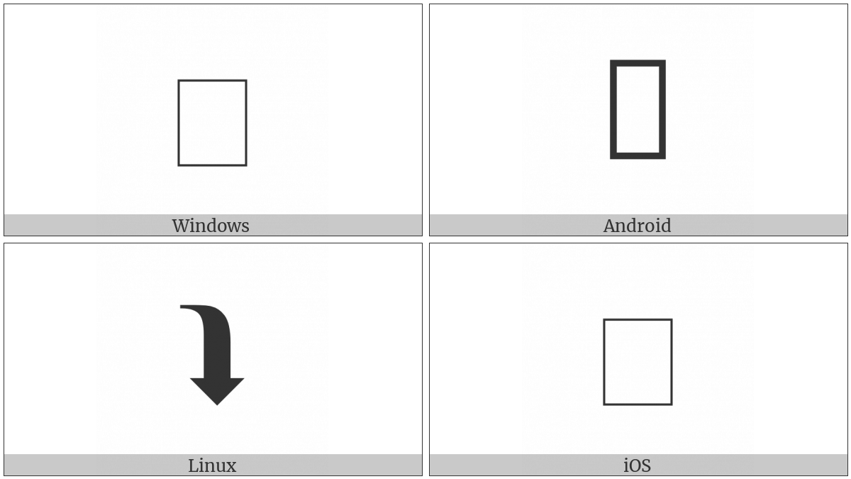 BLACK CURVED RIGHTWARDS AND DOWNWARDS ARROW   UTF-8 Icons