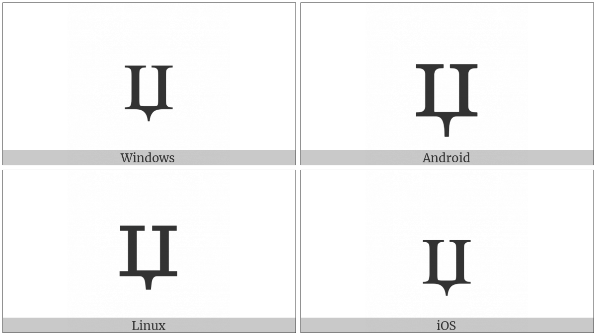 Cyrillic Small Letter Dzhe on various operating systems