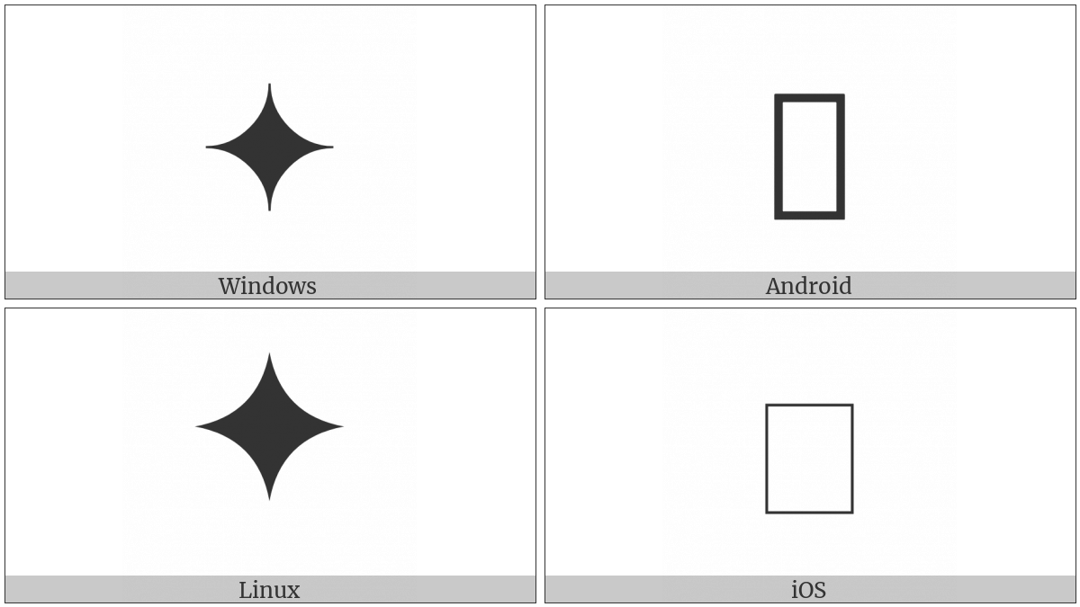 Light Four Pointed Black Cusp on various operating systems