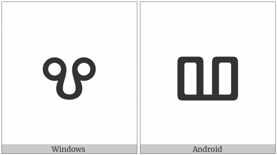 Glagolitic Small Letter Vede on various operating systems