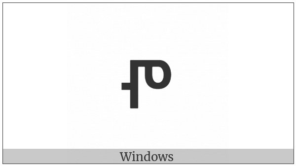 Glagolitic Small Letter Pokoji on various operating systems