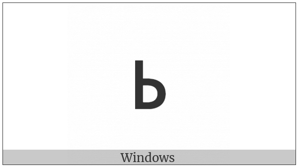 Glagolitic Small Letter Ritsi on various operating systems