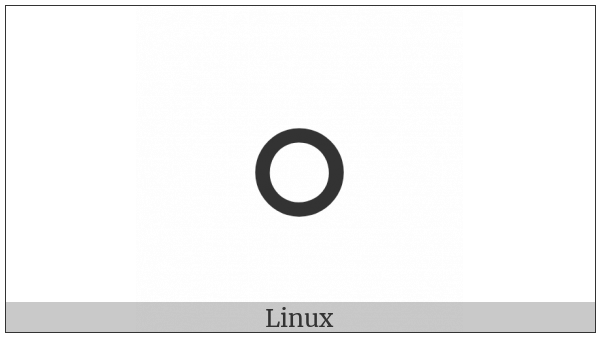 Duployan Letter O on various operating systems