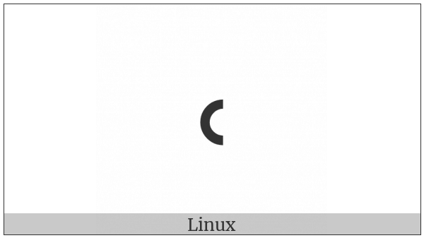 Duployan Letter Ie on various operating systems