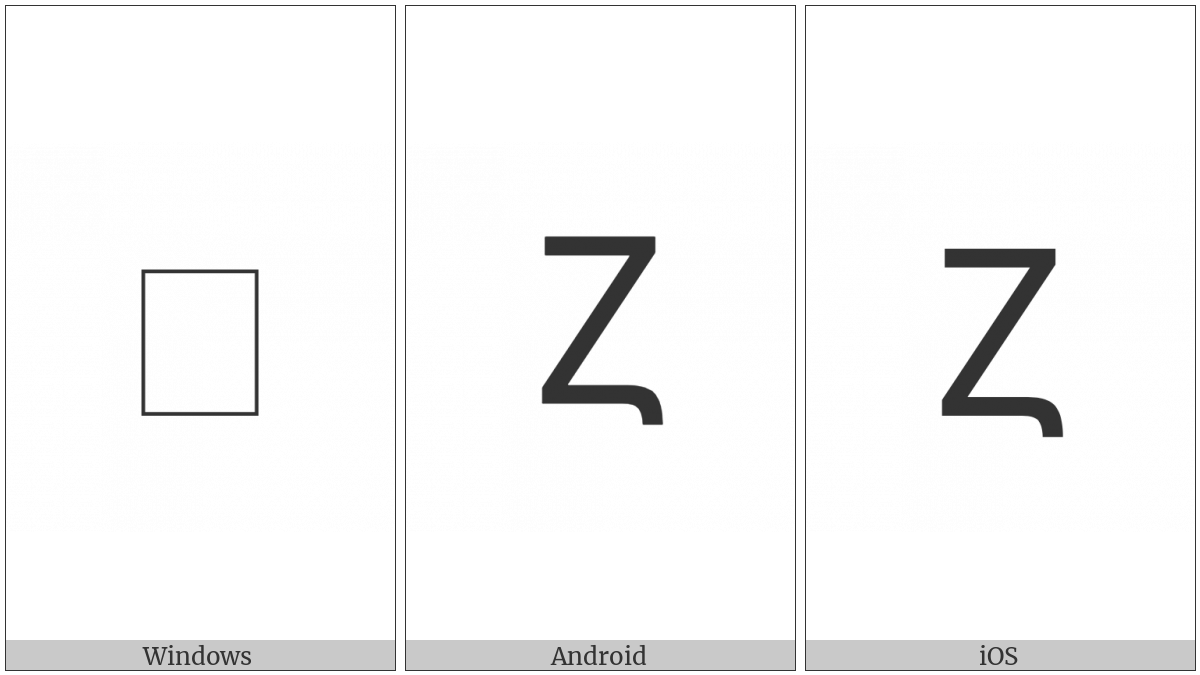 Coptic Capital Letter Zata on various operating systems