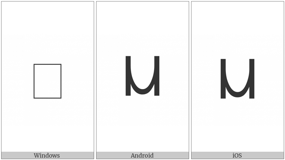 Coptic Capital Letter Mi on various operating systems