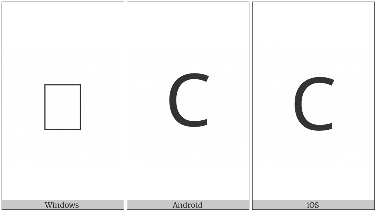 Coptic Capital Letter Sima on various operating systems