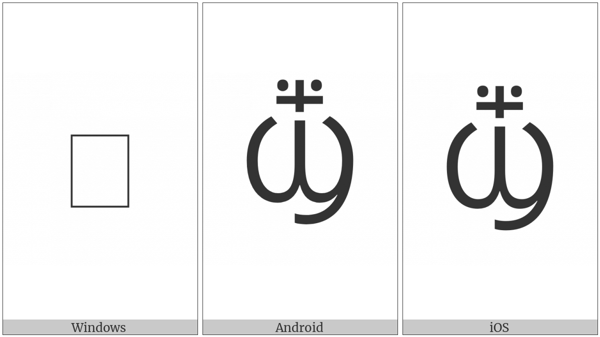 Coptic Capital Letter Crossed Shei on various operating systems