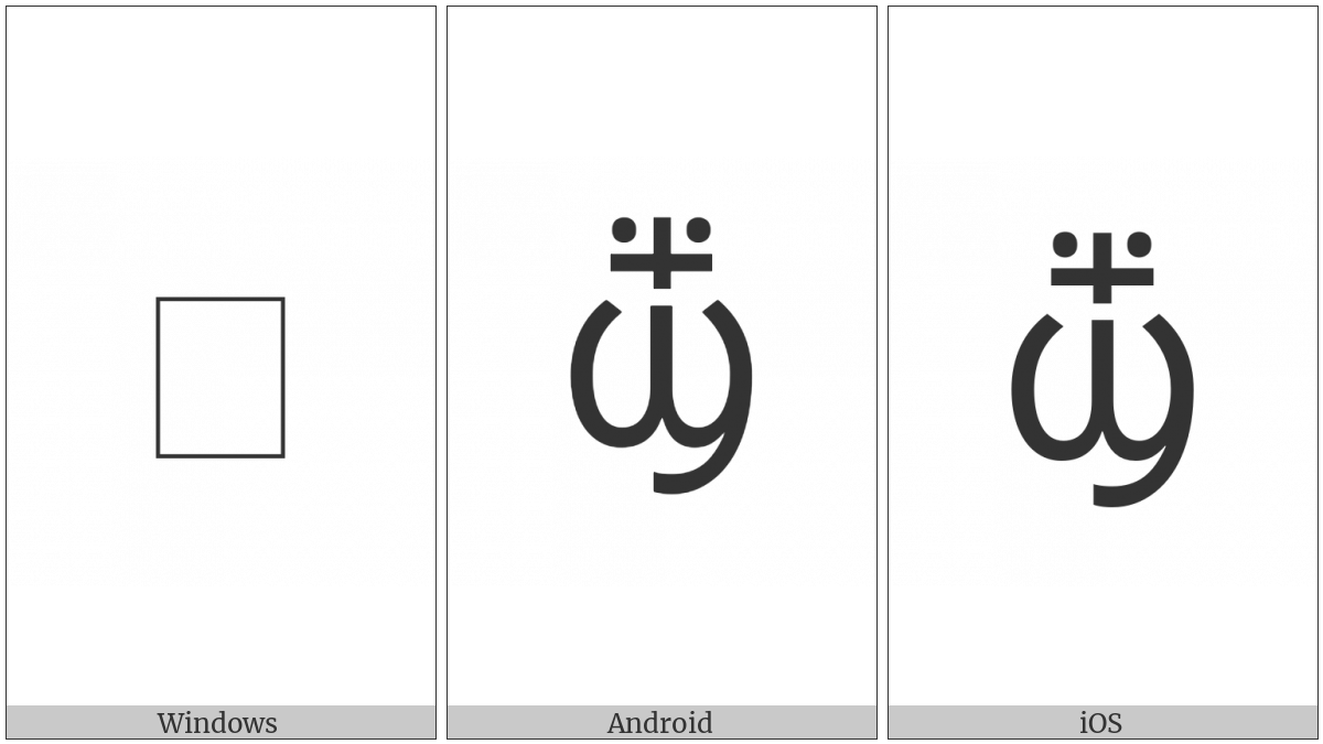 Coptic Small Letter Crossed Shei on various operating systems