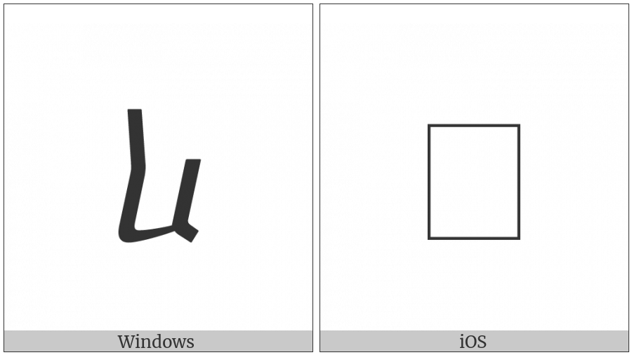 Georgian Small Letter San on various operating systems