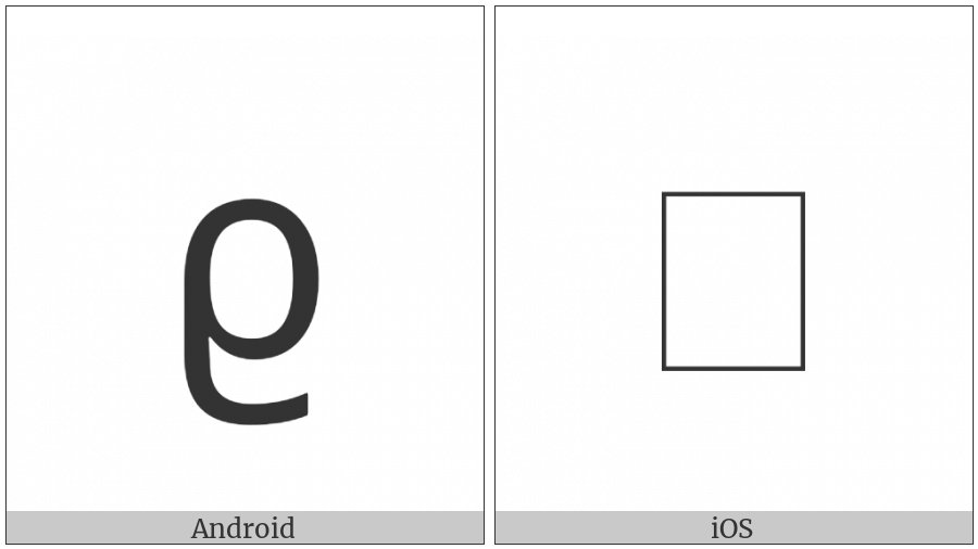 Georgian Small Letter Tar on various operating systems