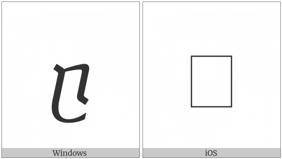 Georgian Small Letter Can on various operating systems