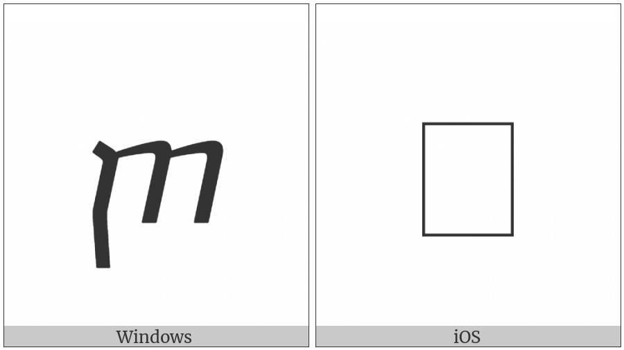 Georgian Small Letter Cil on various operating systems