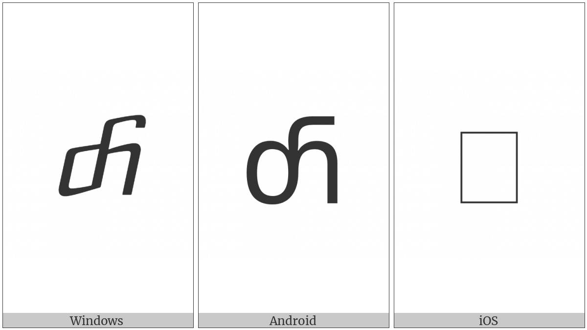 Georgian Small Letter Hoe on various operating systems