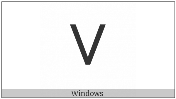 Tifinagh Letter Yadh on various operating systems