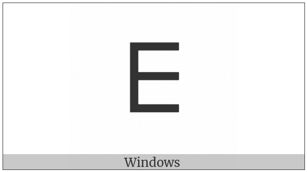 Tifinagh Letter Yadd on various operating systems