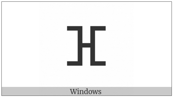 Tifinagh Letter Yaf on various operating systems