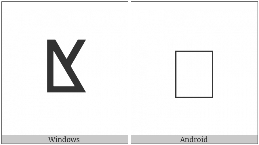 Tifinagh Letter Yakhh on various operating systems