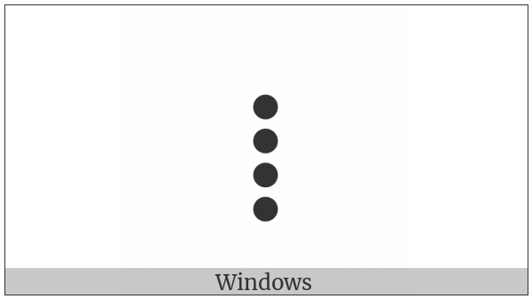 Tifinagh Letter Tuareg Yah on various operating systems