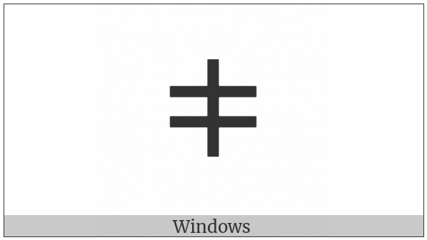 Tifinagh Letter Tuareg Yagn on various operating systems