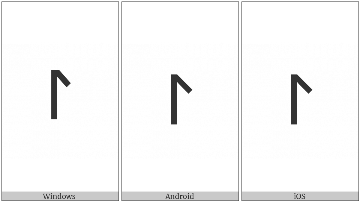 Tifinagh Letter Tawellemet Yaz on various operating systems