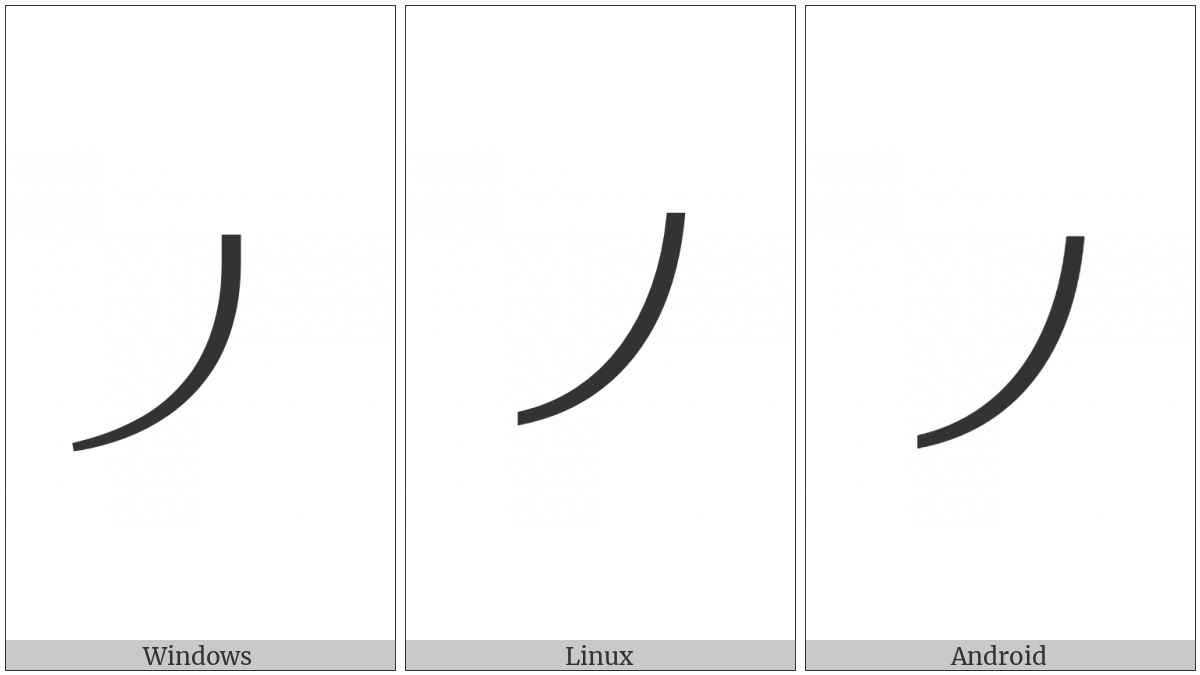 Tifinagh Separator Mark on various operating systems
