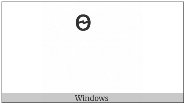 Combining Cyrillic Letter Fita on various operating systems