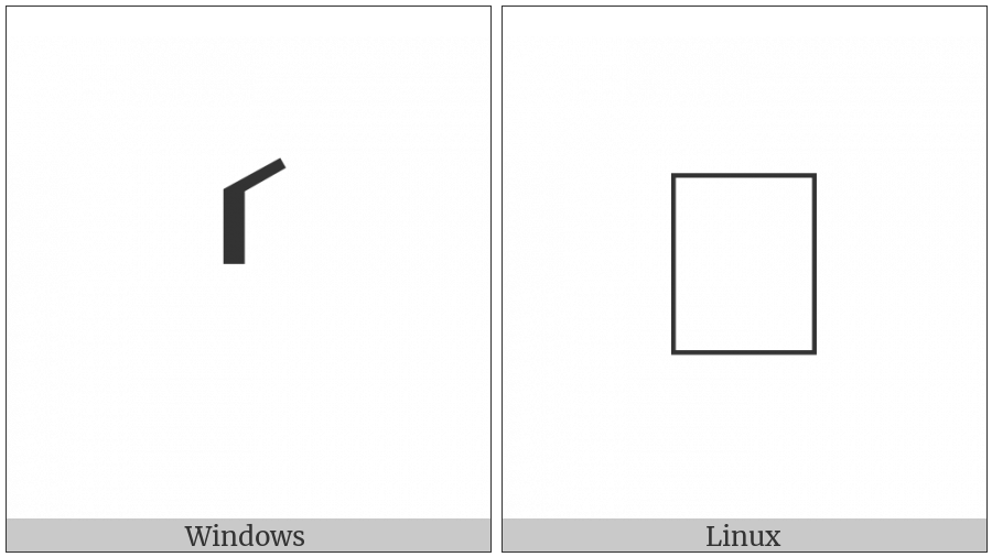 Left Substitution Bracket on various operating systems