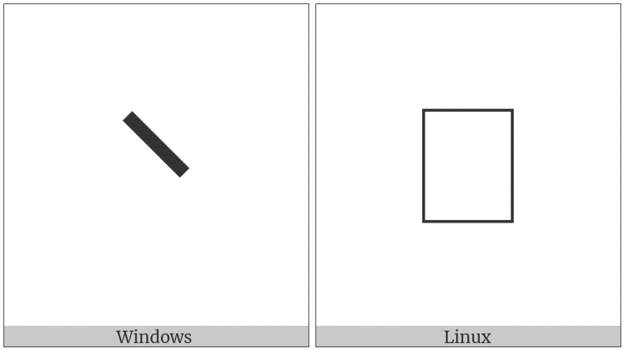 Left Raised Omission Bracket on various operating systems