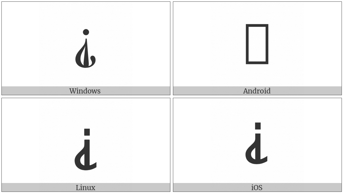 Inverted Interrobang on various operating systems