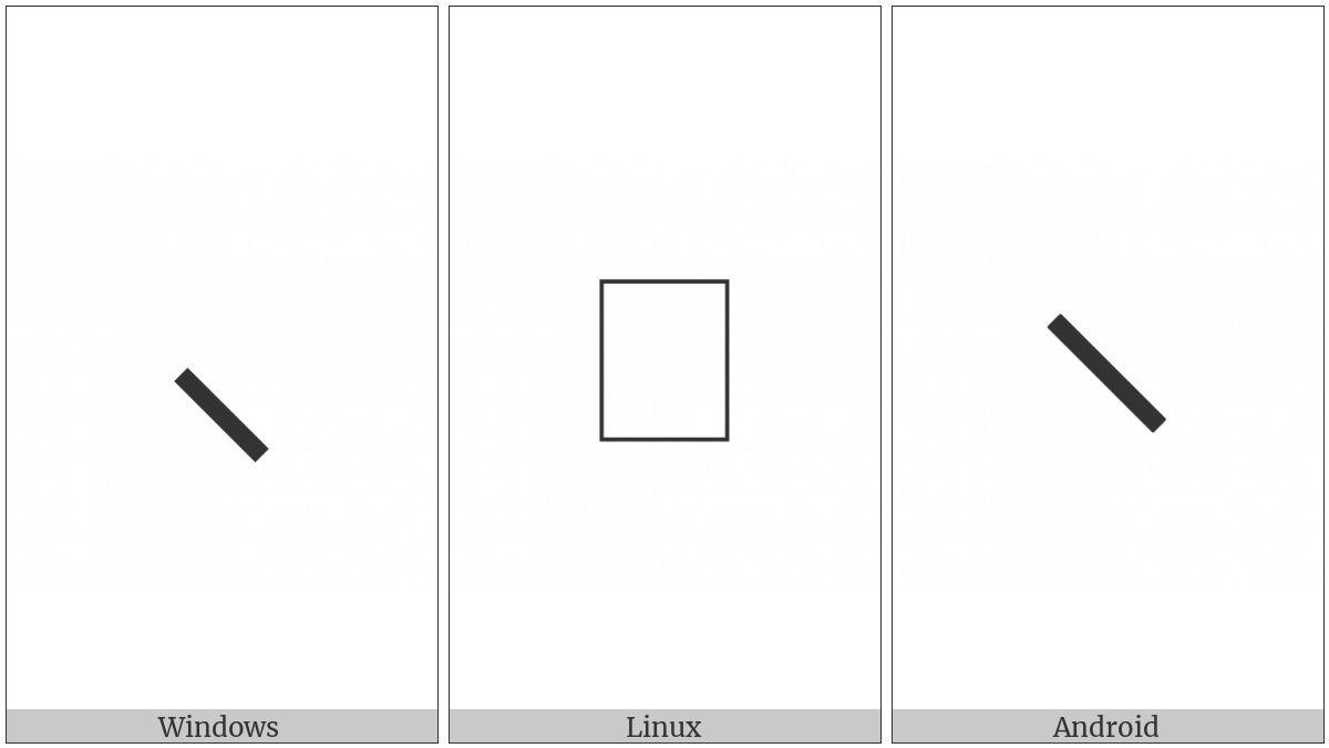Left Low Paraphrase Bracket on various operating systems