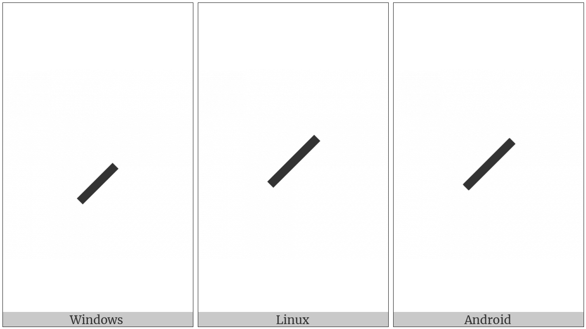 Right Low Paraphrase Bracket on various operating systems