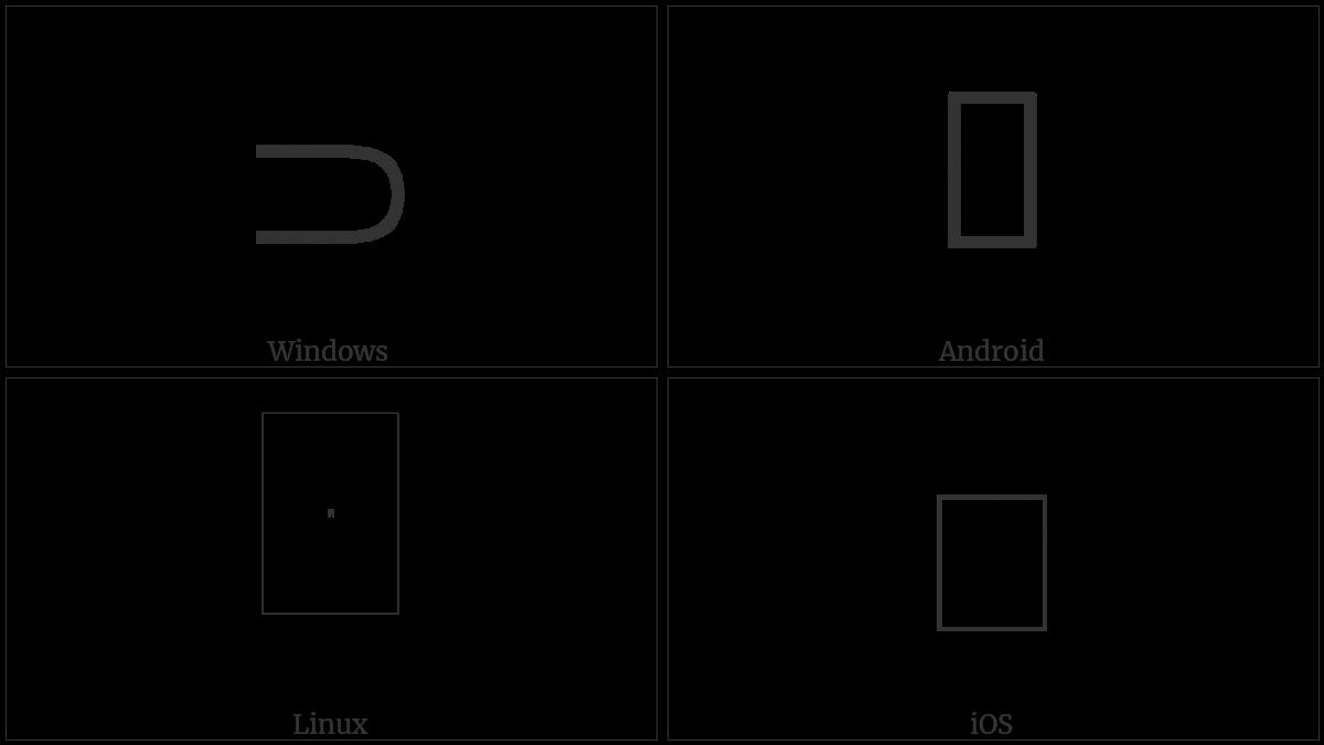 Right Sideways U Bracket on various operating systems