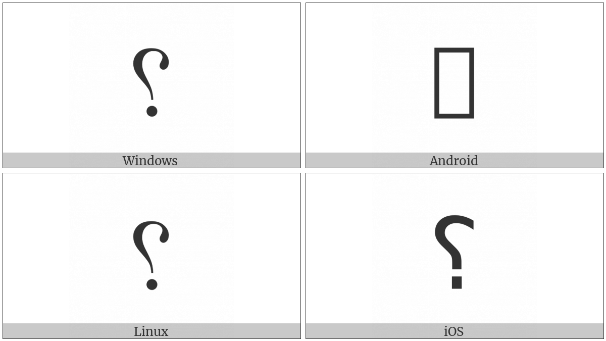 Reversed Question Mark on various operating systems