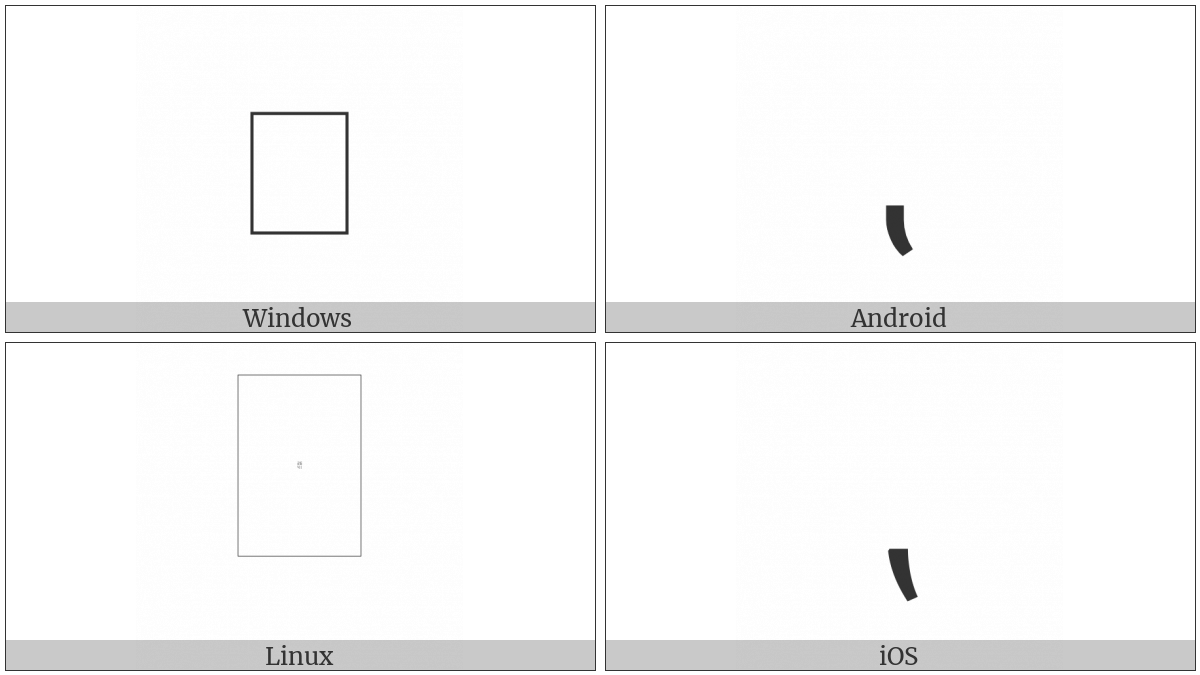 Reversed Comma on various operating systems