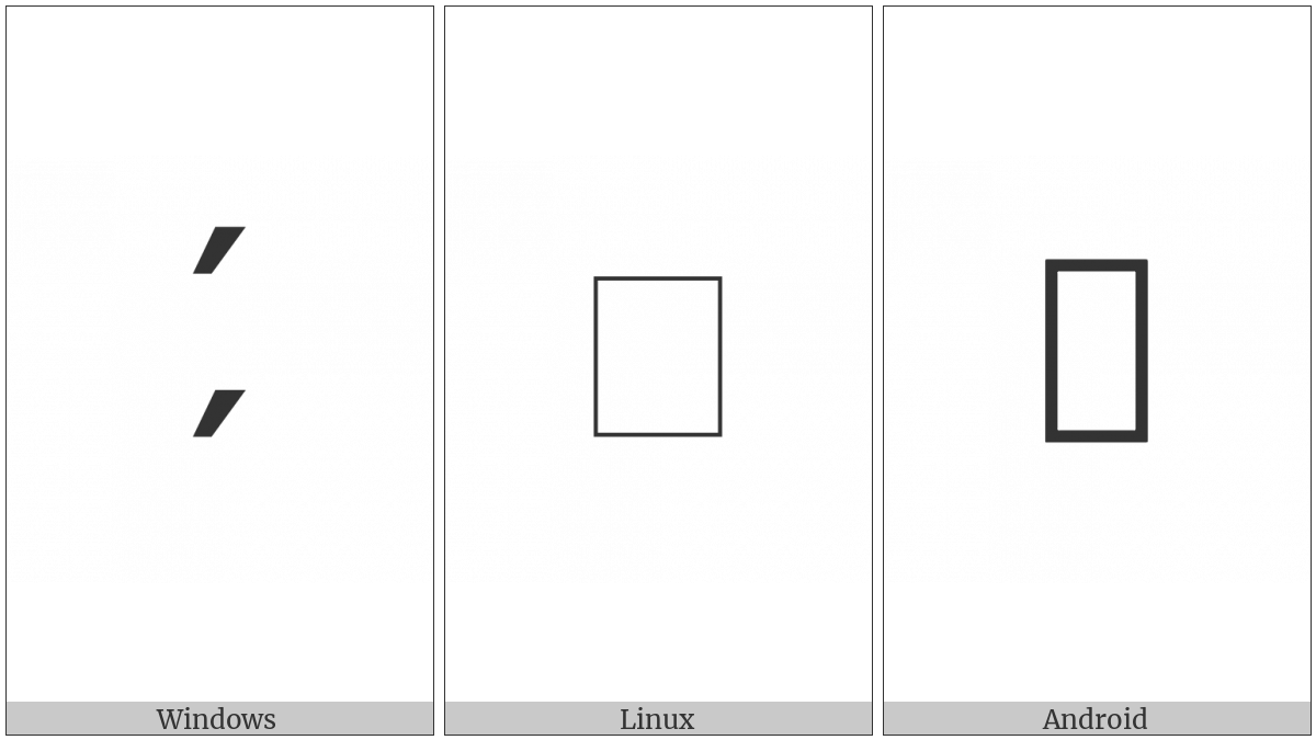 Double Suspension Mark on various operating systems