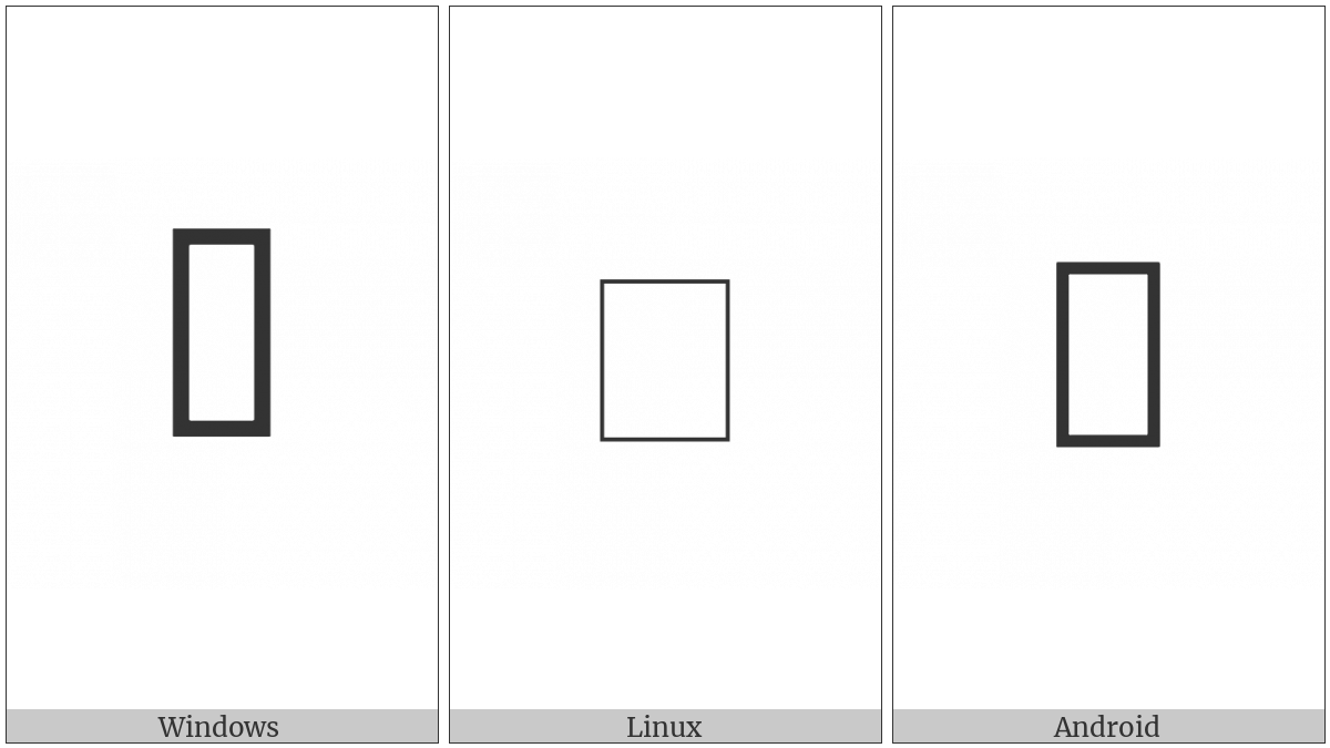Double Stacked Comma on various operating systems